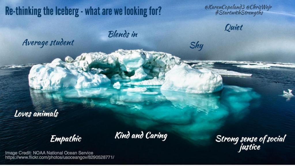 Re-thinking the iceberg